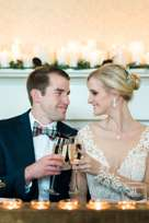 Classic Southern Couple at Winter Wedding