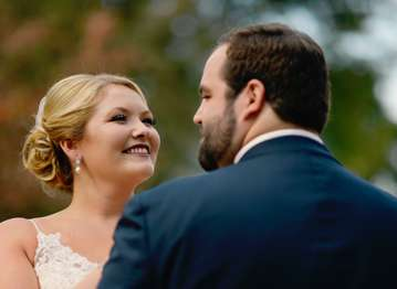 Bride and Groom at Classic Kentucky wedding