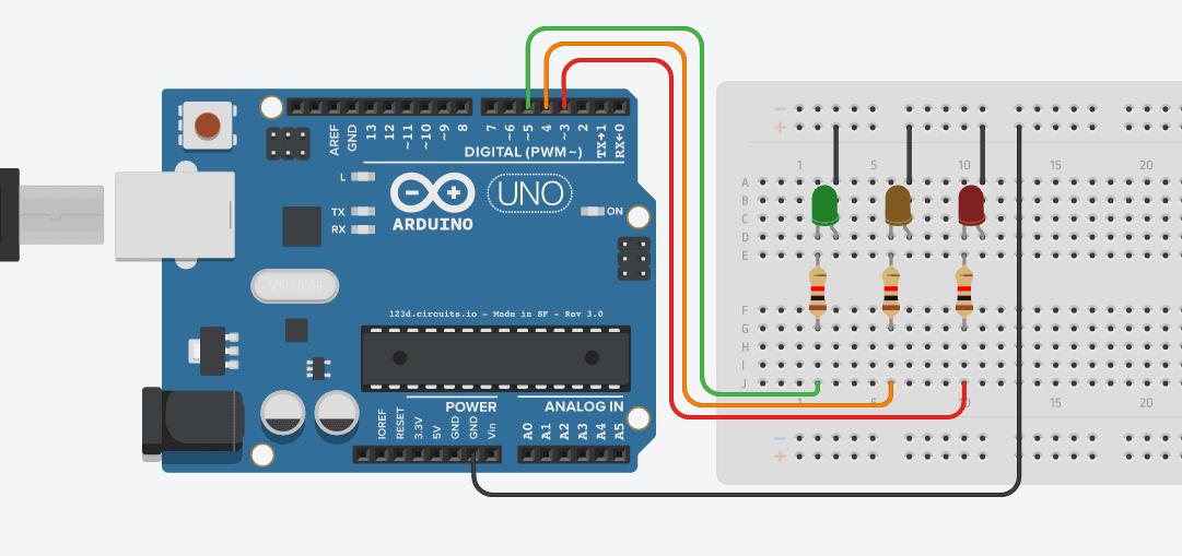 Lampu Lalu Lintas Menggunakan Arduino UNO