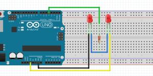 Lampu LED Flip-Flop (Blingking LED) dengan 1 PIN Output Menggunakan Arduino