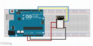 1. Skematik Komunikasi Arduino dengan ESP8266