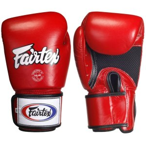 Fairtex Boxing Gloves GBV1 Red Mesh