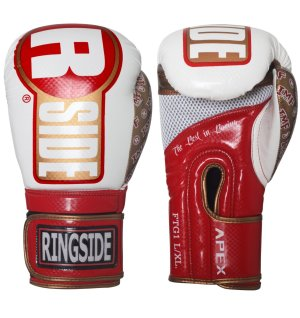 Ringside boxing gloves - Red and white