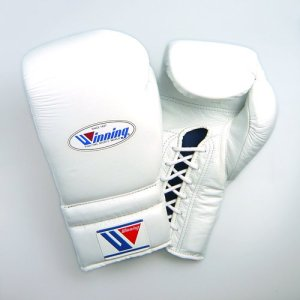 Winning Boxing Gloves in white