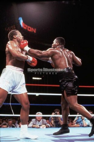 Mike Tyson Powerful Left Hook