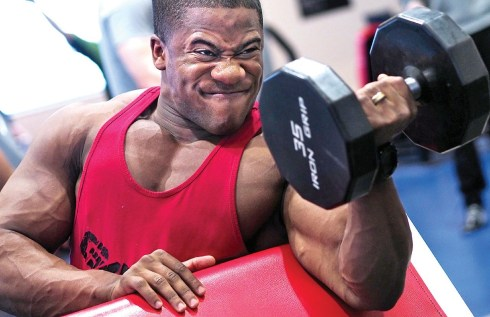 The mass gained from lifting does not translate to punching power