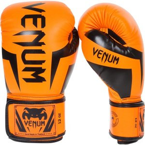 Venum Elite Boxing Gloves - Neo Orange