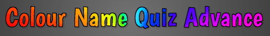 Colour name quiz advance banner