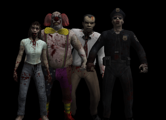 A group of zombies