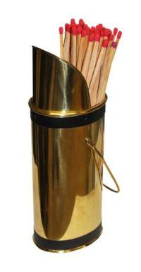 Fireplace Match Holder Brass & Black Rnd. y - Warrior ...