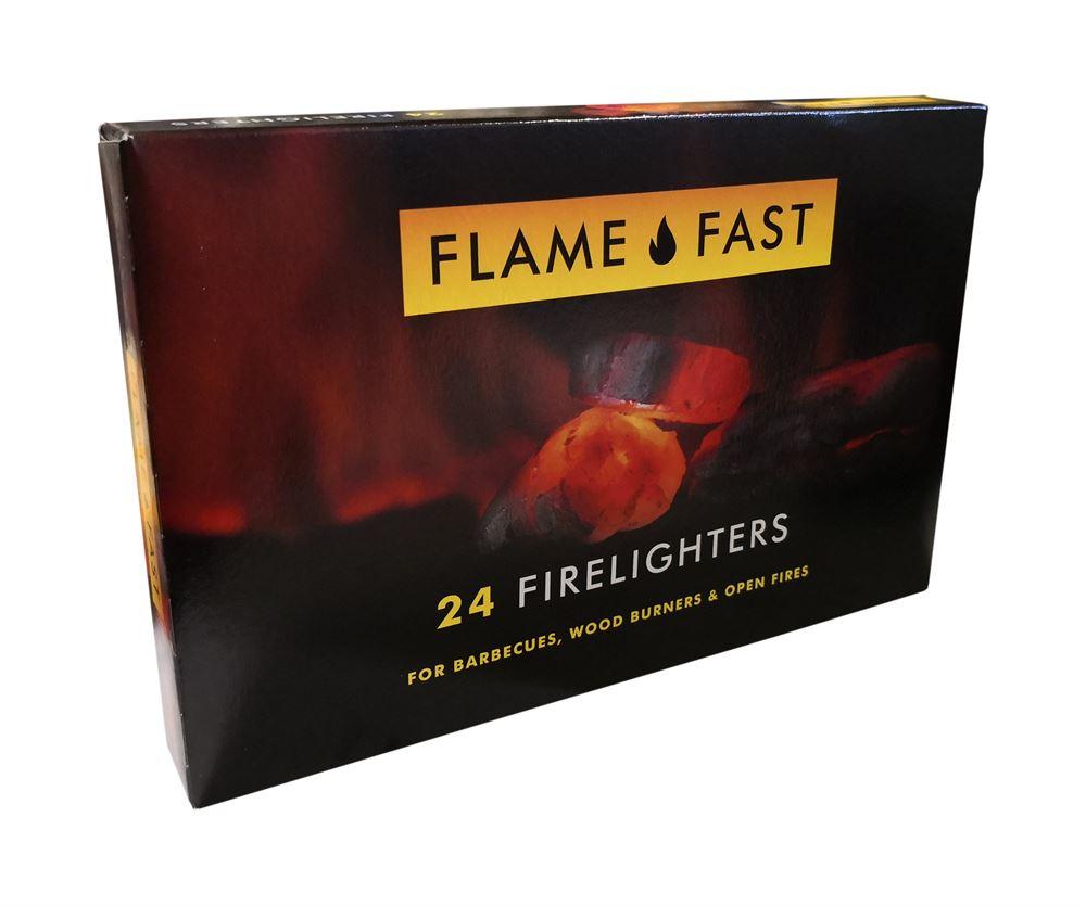 Warrior - Firelighters Pack of Deluxe FLAMEFAST x24 - Warrior Warehouses Ltd