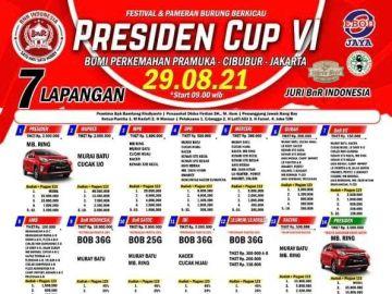 BROSUR PRESIDEN CUP JAKARTA
