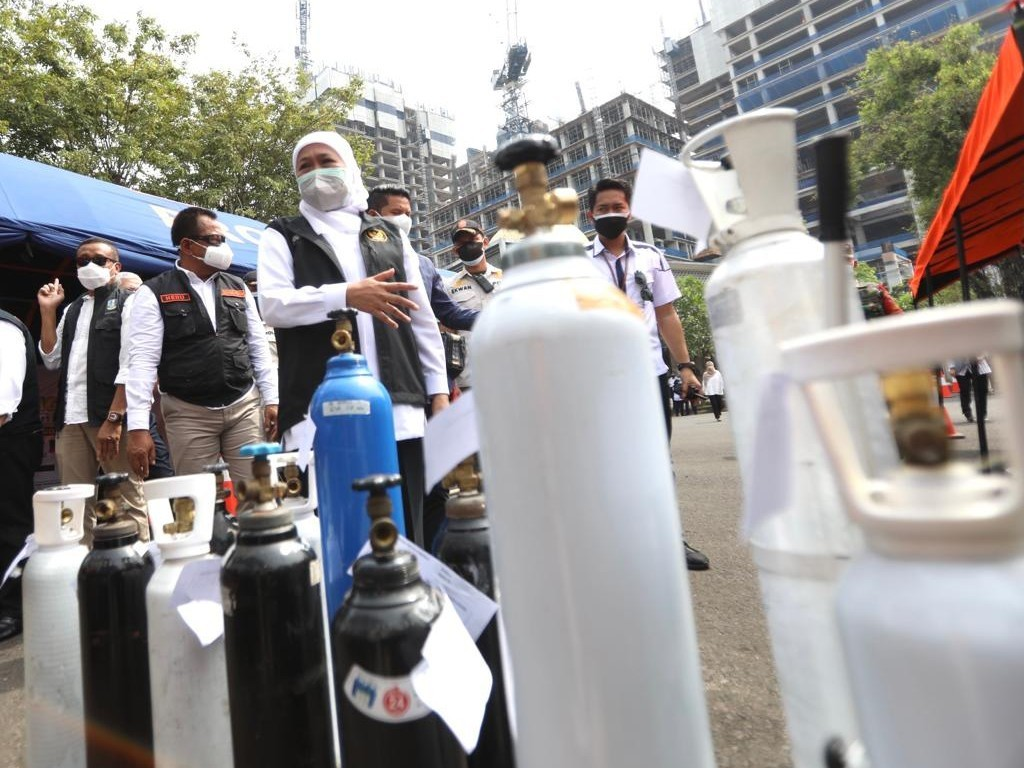 Gubernur Launching Stasiun Pengisian Oksigen Gratis Bagi Pasien Isoman Covid-19