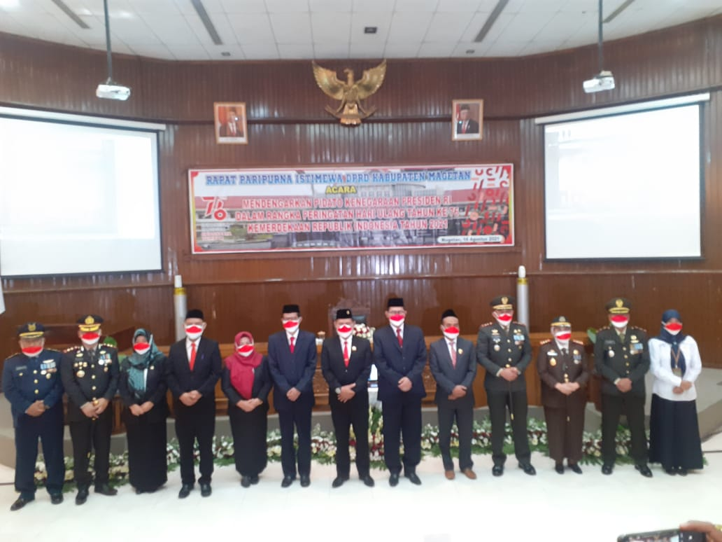 Ketua DPRD Pimpin Rapat Paripurna Istimewa Agenda Mendengarkan Pidato Presiden
