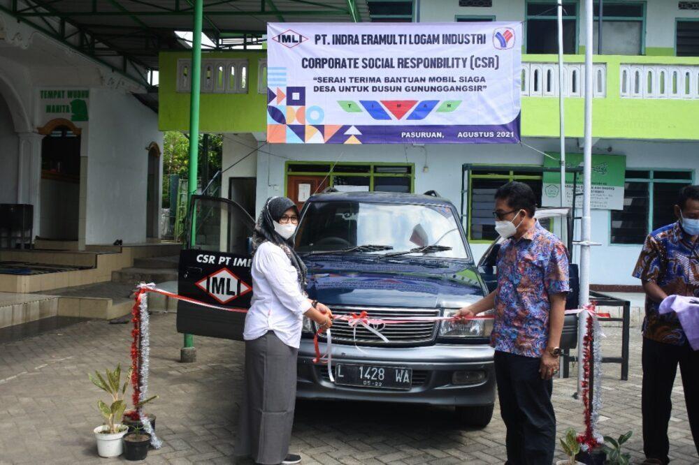 PT IMLI Serahkan Bantuan Mobil Untuk Penduduk Gununggangsir