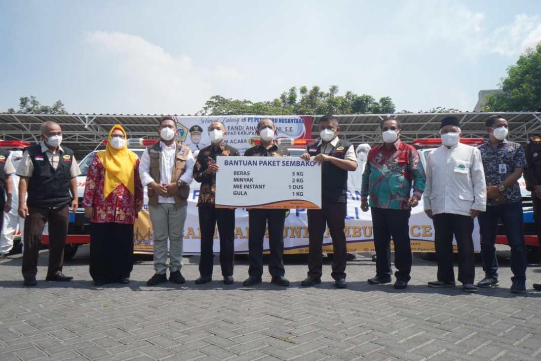 PT. PON Donasi Rp6,3 Miliar untuk Penanganan Covid di Gresik