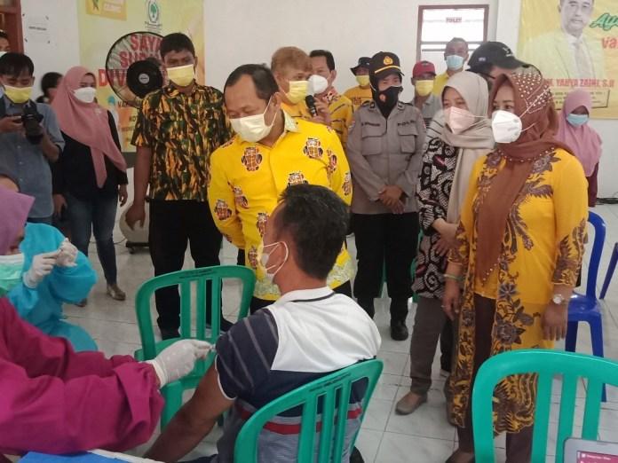 Vaksinasi Kota Mojokerto Capai 117 Persen, M. Sarmuji: Golkar Dukung Program Walikota