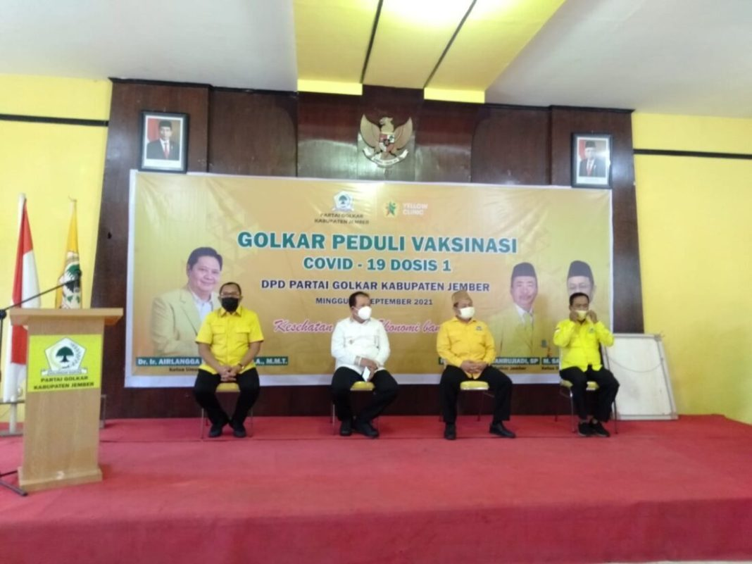 Jember Kabupaten ke 22 Disinggahi Tim Vaksin Golkar Jatim