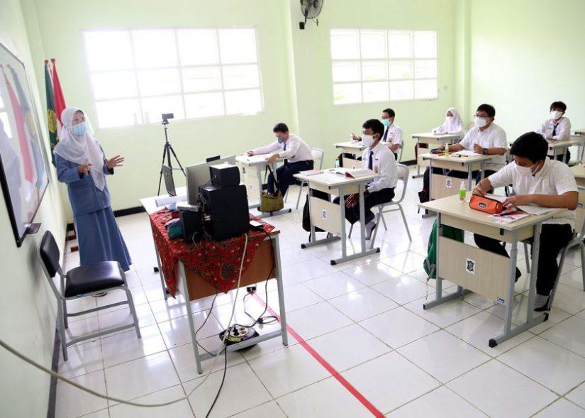 213 Sekolah di Surabaya Sudah Gelar PTM Terbatas