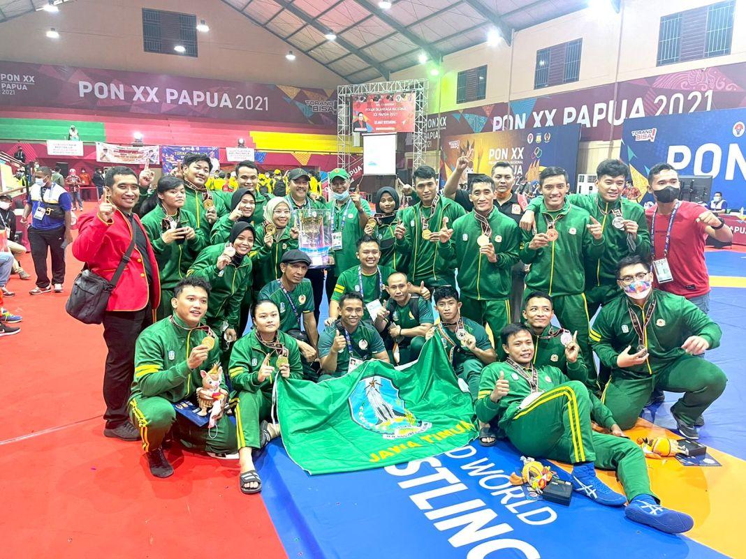 Kontingen Jatim Klaster Merauke Juara Umum PON XX Papua 2021