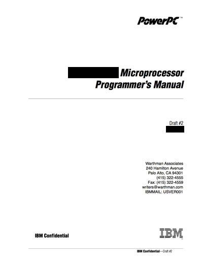 Technical Writer, IBM PowerPC 615 Microprocessor
