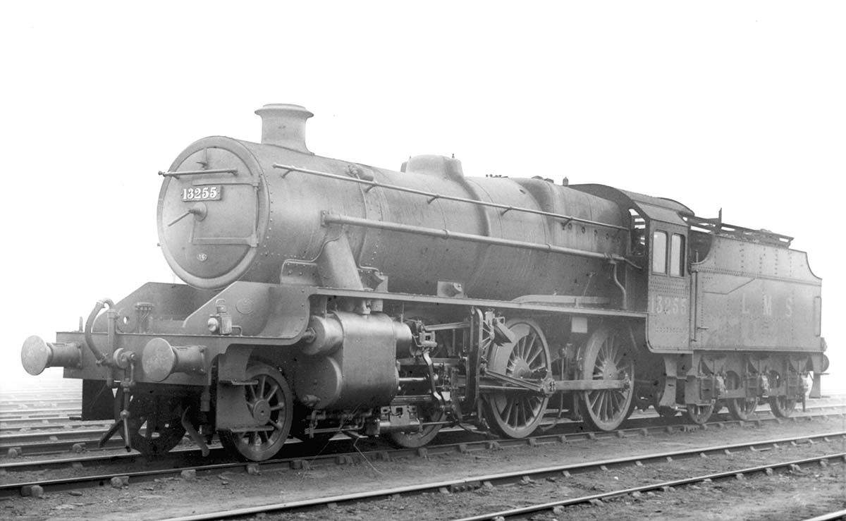 Rugby Shed  LMS Stanier Mogul 260 No 13255 stands on