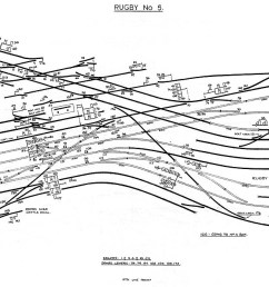 rugby no 5 signal cabin s track diagram showing the junction with the former midland branch to [ 1200 x 662 Pixel ]