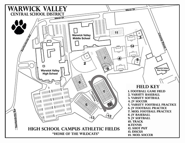 Maps: WVCSD Athletics Fields : Warwick Valley Central Schools