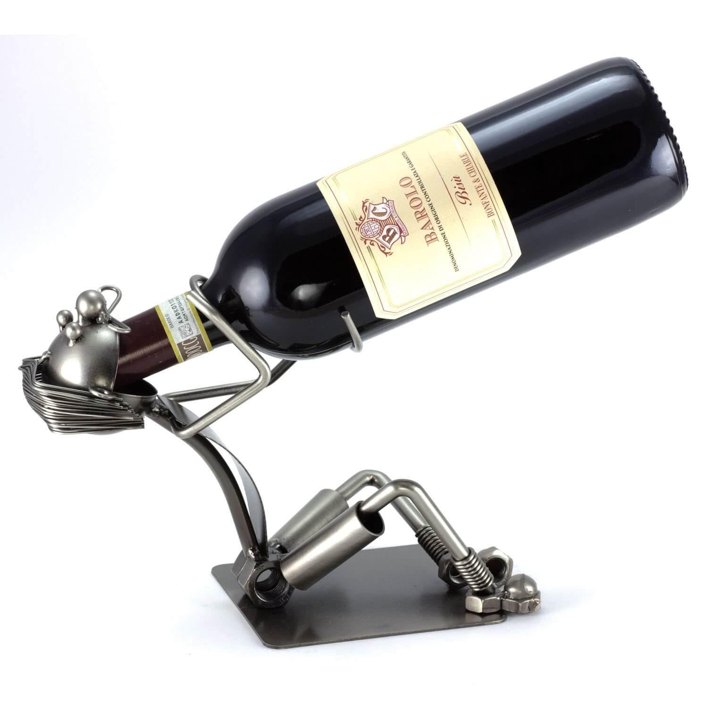 Metallkunst Flaschenhalter – Trunkenbold