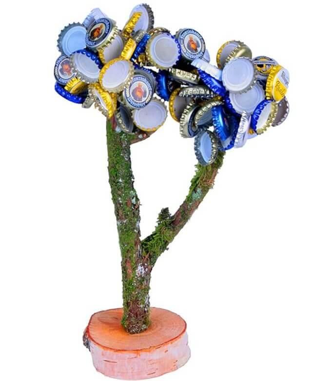 Deckelbaum XXL Magnetbaum Kronkorkenbaum Trinkspiel Kronkorkenhalter Männergeschenk 2