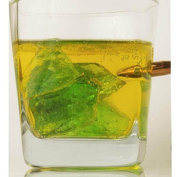 Kolberglas - Whiskyglas mit echtem Projektil Cal.308- Bullet Glas - Männergeschenk - Whiskyglas mit Patrone