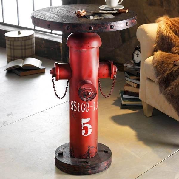 Der Man Cave – die ultimative Männerhöhle einrichten Hydrant Fireplug Beistelltisch 2
