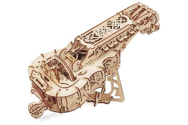 Holzbausatz - besten Holzmodell kaufen - Bausatz aus Holz - Geschenkidee und Männerspielzeug - Drehleier aus Holz