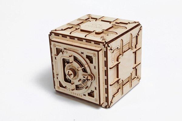 Holzbausatz - besten Holzmodell kaufen - Bausatz aus Holz - Geschenkidee und Männerspielzeug - Tresor aus Holz