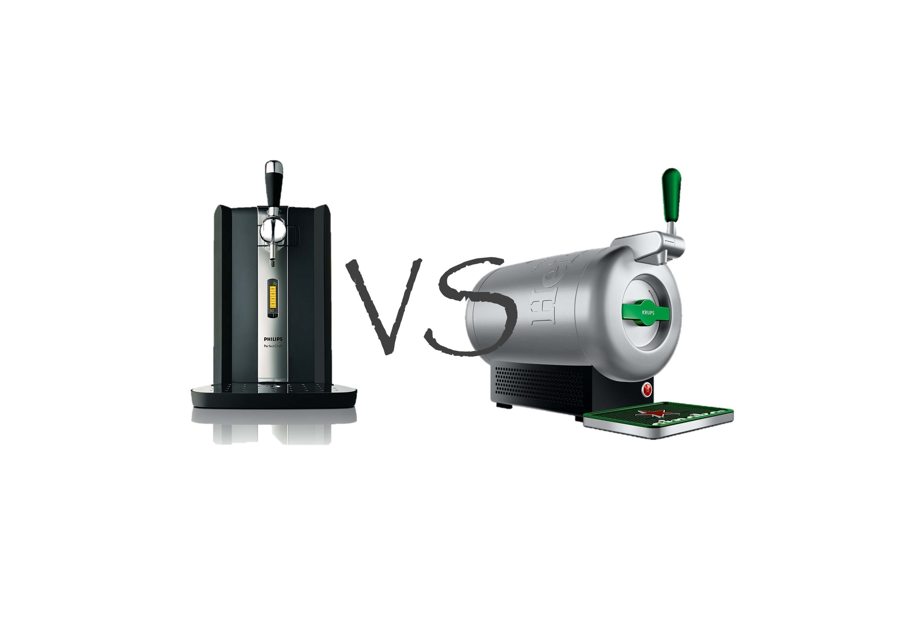 Die besten Heim Bier Zapfanlagen – Philips Perfect Draft VS. Krups The Sub