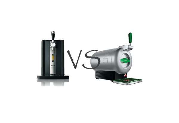 Bier Zapfanlagen Krups The SUb vs Philips Perfect Draft