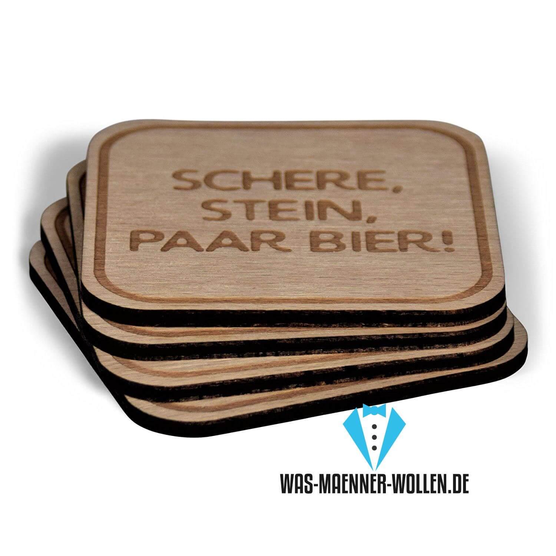 Lustige Holzbierdeckel – Alternativlos!