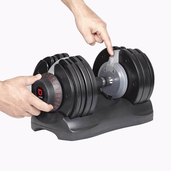 Verstellbare Kurzhantel Set - Intelligentes Hantelsystem - Einstellbare Hanteln kaufen - Geschenk für Sportler - DialTech