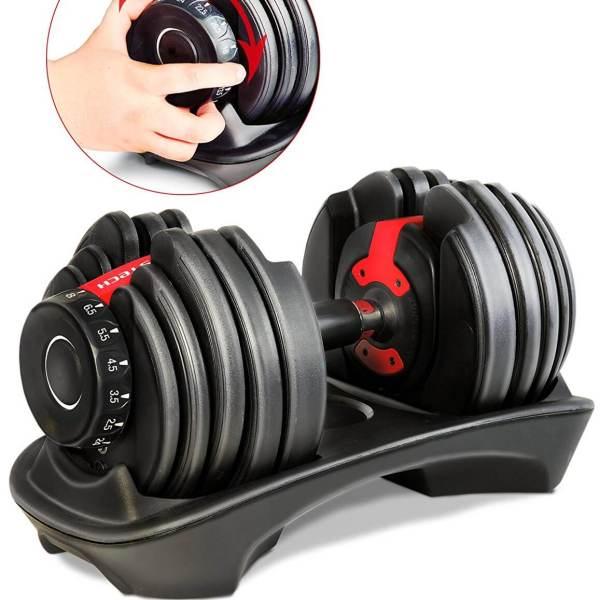 Verstellbare Kurzhantel Set - Intelligentes Hantelsystem - Einstellbare Hanteln kaufen - Geschenk für Sportler - Sportstech 15 in 1