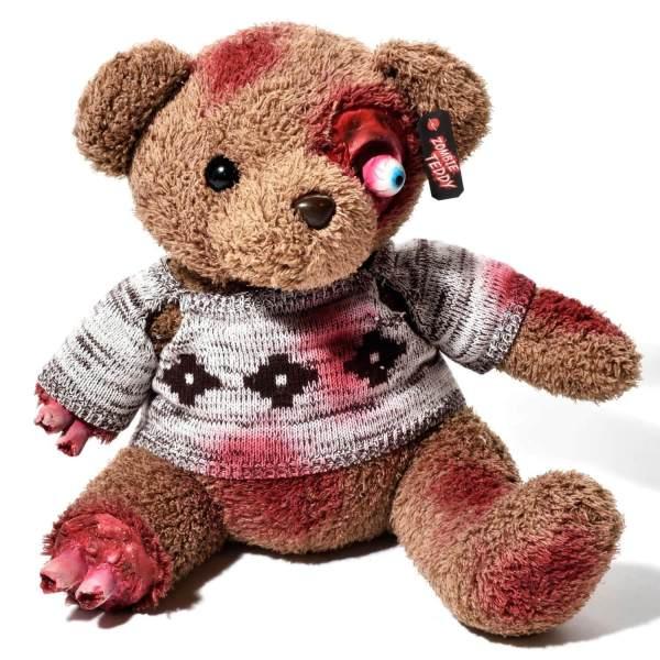 Zombie Teddy kaufen Geschenk für Horror Fans - Teddybär, Kuscheltier, Plüschtier, Stofftier - Amputierte Gleidmaßen 3