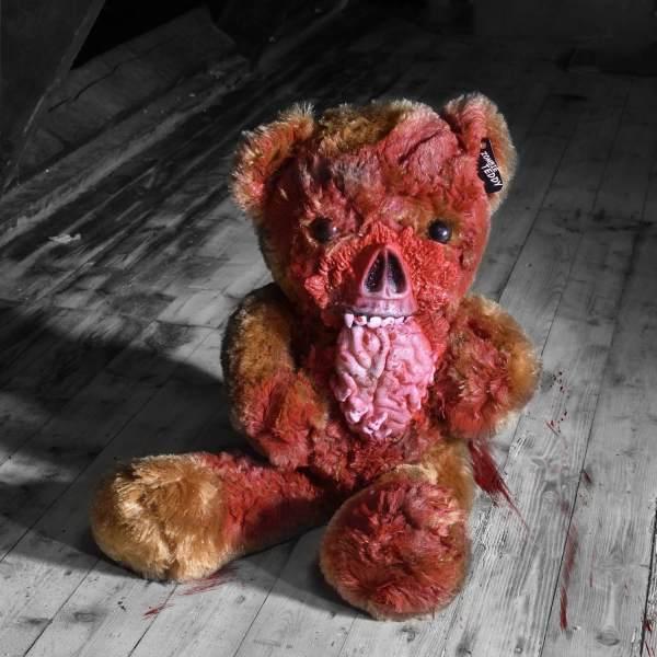 Zombie Teddy kaufen Geschenk für Horror Fans - Teddybär, Kuscheltier, Plüschtier, Stofftier - Gehirn essen gruselig 2