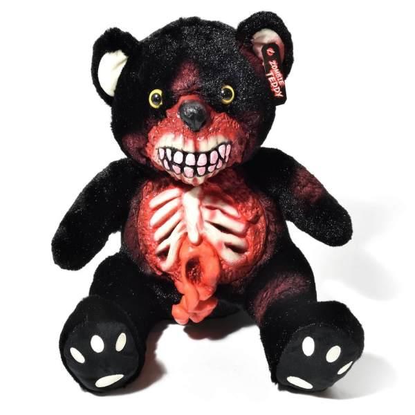 Zombie Teddy kaufen Geschenk für Horror Fans - Teddybär, Kuscheltier, Plüschtier, Stofftier - offener Bauch