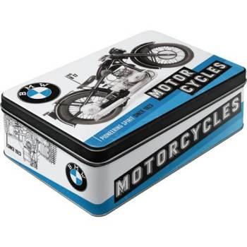 nostalgische BMW Motorrad Blechdose