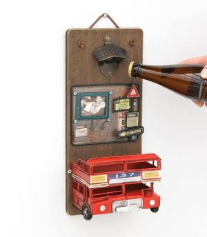 Aussergewöhnliche Flaschenöffner ungewöhnlich Kapselheber ausgefallen Bieröffner - coole, besondere, beste, edle, edel, lustige, originelle, aus Holz - Wand 2
