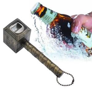 Aussergewöhnliche Flaschenöffner ungewöhnlich Kapselheber ausgefallen Bieröffner - coole, besondere, beste, originelle, aus Holz - Falschenöffner Thors Hammer