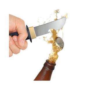 Aussergewöhnliche Flaschenöffner ungewöhnlich Kapselheber ausgefallen Bieröffner - coole, besondere, beste, originelle, aus Holz - lustiger Falschenöffner Ninja Schwert