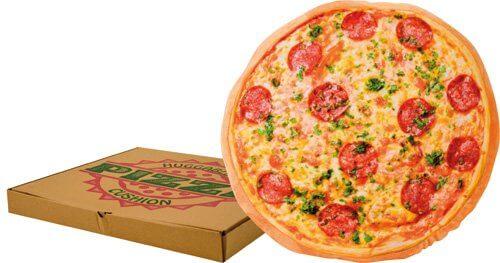 Food Design Kissen in Pizzaoptik
