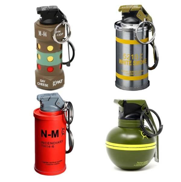 Feuerzeug im Granaten Design - Sturmfeuerzeug Granatnendesign - Geschenke für Männer kaufen Titelbild