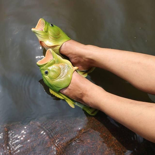 Fisch Badelatschen Sommergeschenk Geschnkidee für Angler 4