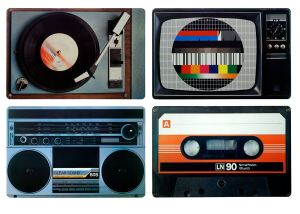 6 ausgefallene Retro Vintage Geschenke Retro 80er Tischset